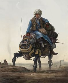 Old wanderer (personal artwork), Sergey Vasnev on ArtStation at https://www.artstation.com/artwork/Qa5x3