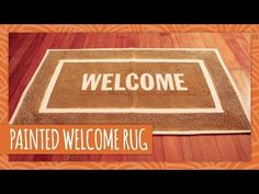 DIY Painted Welcome Rug - HGTV Handmade