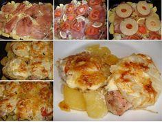 Ananászos tepsis csirke Cauliflower, Vegetables, Ethnic Recipes, Food, Cauliflowers, Essen, Vegetable Recipes, Meals, Cucumber