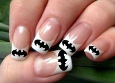 Batman Nail Decal by SamanthasBoutique89 on Etsy, $4.00 - I totally want these!!!!!