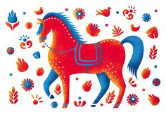 Polish horse Прочее © Светлана Кузнецова Simple Pictures, Rooster, Doodles, Cool Stuff, Drawings, Illustration, Artist, Animals, Girls