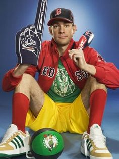 John Krasinski reppin' all the Boston teams