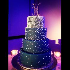 Starry night wedding cake annacakes.com