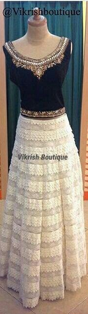 #black-choli#velvet#crop-top#lehenga#black#cream#leather#skirt#bollywood#