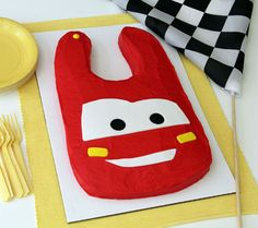 Lightning McQueen Bib Cake