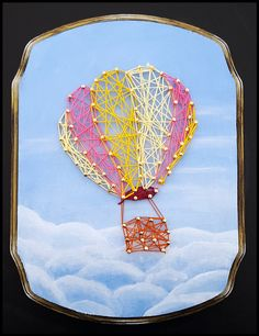 New to JDLeeArts on Etsy: String Art Balloon (45.00 USD)