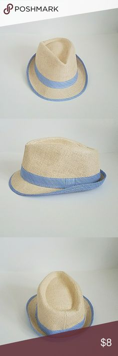 Fedora Light blue and white fedora Accessories Hats