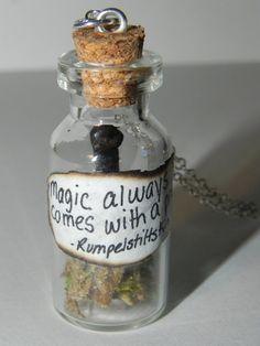 Once Upon a Time, Rupelstiltskin Dagger in a Bottle Necklace, TV Show Inspired. $15.21, Bottle Necklace