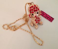New Betsey Johnson Gold Tone Poodle Charm Necklace. Starting at $5 on Tophatter.com! 7/27/14