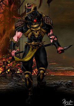 Mortal Kombat: Scorpion - Alternate Costume by JhonatasBatalha on DeviantArt Mortal Kombat 2, Scorpion Mortal Kombat, Mortal Kombat Costumes, Dragon Comic, Ninja Art, Dc Comics Heroes, Mileena, Nerd Art, Character Art