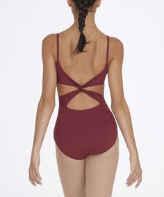 Look what I found on #zulily! Burgundy Twist Back Camisole Leotard - Women by Capezio #zulilyfinds