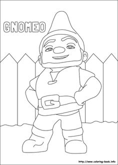 Garden Gnome color page | Party Inspiration | Pinterest ...