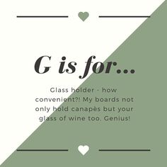 G is for... Glass holder - how convenient! My boards not only hold canapés but your glass of wine too. Genius!   #faffthegaff #lovemelovemyfarmhouse #louloucreates #houserenovation #smallbusiness #launchingsoon #mumslife #anewexcitingchapter #blogger #newventureawaits #excitingtimes #housetohome #buildingadream #bigbelieverinfate #nevertoolate #40isthenextchapter #bringonthe40s #womeninbusiness #watchme #smallbusinessdreams #freetobemeoninsta #homeiswheretheheartis #alphabetchallenge #georgianho