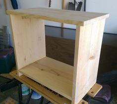 DIY Toddler Sized Night Stand or End Table