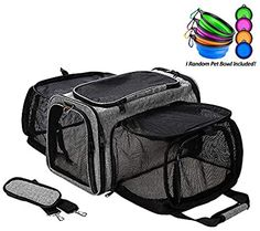 Amazon.com : Coopeter Luxury Pet Carrier Two Soft-Side Expansion, Pet Travel Carrier for Dog & Cat : Pet Supplies Puppy Carrier, Cat Carrier, Small Pet Carrier, Soft Dog Crates, Airline Approved Pet Carrier, Pet Travel Carrier, Pet Bag, Backpacker, Dog Cat