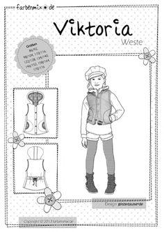 VIKTORIA, Schnittmuster - farbenmix Online-Shop - Schnittmuster, Anleitungen zum Nähen