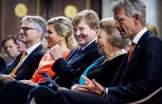 King Willem-Alexander, Queen Máxima and Princess Beatrix attended the Appeltjes van Oranje 2013 award ceremony in Amsterdam