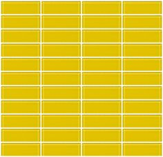Glass Tile   1x3 Inch Bright Yellow Glass Subway Tile Stacked $15/sq.ft