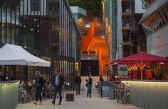 Vulcan steps.Mathallen in Oslo