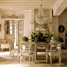 All the charm and grace of a French home with Gustavian furniture.