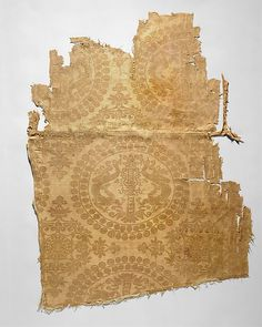 Textile with Pearl Roundels with Dragons   China or Central Asia   late 8th-9th century   silk   Metropolitan Museum of Art