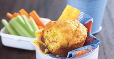 Savoury Texas muffins - 2 cups self-raising flour 1 teaspoon baking powder 1 teaspoon salt 1 small zucchini, grated 1 small carrot, grated shaved mild salami, thinly sliced 1 cup grated cheddar cheese 2 eggs cup milk butter, melted Yummy Zucchini Muffins, Savory Muffins, Cheese Muffins, Zucchini Slice, Muffin Recipes, Baking Recipes, Lunch Snacks, Lunch Box, Snack Box