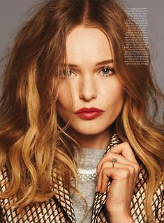Kate Bosworth - InStyle, UK, September 2013 I like the colors in her hair. Kate Bosworth, Hair Inspo, Hair Inspiration, Dream Hair, Hair Dos, Pretty Hairstyles, New Hair, Wavy Hair, Hair And Nails