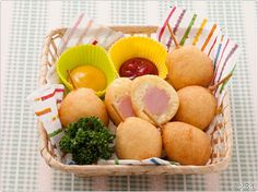 American Dog, Takoyaki, Nom Nom, Eggs, Apple, Fruit, Breakfast, Recipes, Food