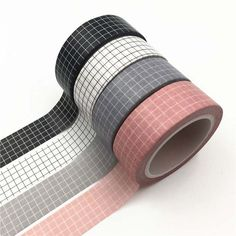Black and White Grid Washi Tape Japanese Paper DIY Planner Masking Tape Adhesive Tapes Stickers Decorative Stationery Tapes-in Office Adhesive Tape from Office & School Supplies on AliExpress - Day Paper Tape, Diy Paper, Bujo Inspiration, Cool School Supplies, School Suplies, Stationary Supplies, Cute Stationery, Japanese Paper, Masking Tape
