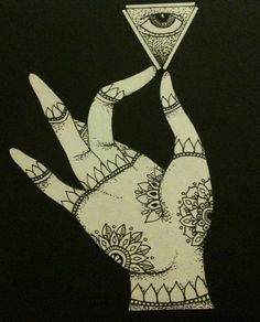 Hand of Buddha holding All Seeing Eye by Cagdem