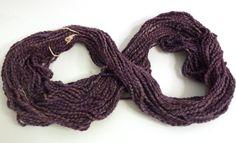 Dark Violet Merino wool hand dyed yarn with viscose