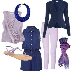 Lavender & Navy color combo for Summer 2012