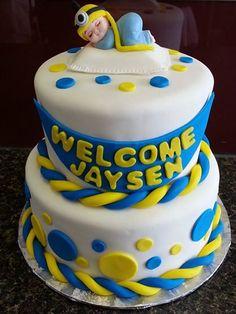 Minion Baby Shower Cake www.GGCupcake.com