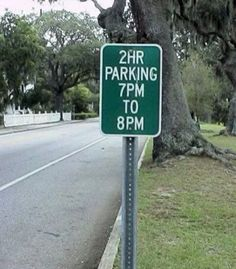 7 PM to 8 PM = 2 hour parking????