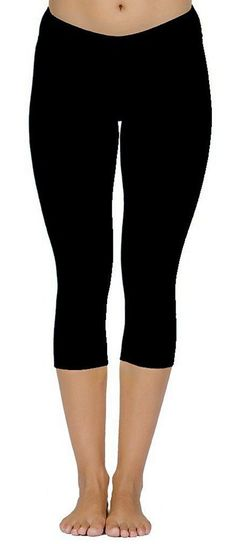 iLoveSIA Women's Tights Capri Yoga Workout Leggings Pants US Size XL Black