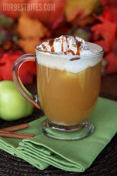 Apple Cider Floats:  Cool, fizzy, & Creamy.  Perfect family treat for fall celebrations!
