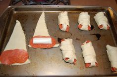 SO EASY!  Put some pepperoni and string cheese in a crescent roll, wrap 'em, and bake!