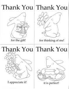 coloring thank you cards