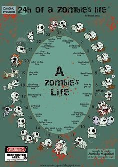 A Day in the Life of a Zombie. (Funny, but obviously not even close to what we think Zombies do and are capable of) Zombie Survival Guide, Zombie Apocalypse Survival, Zombie Apocolypse, Survival Tips, Survival Stuff, Zombie Life, Zombie Art, Dead Zombie, Zombie Squad