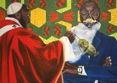 Paul Ndema, detail of Suffocating the Devil, Oil on canvas, 100 x 100 cm. Image courtesy of the artist and NH Contemporary Contemporary African Art, Circle Art, Art Fair, Devil, Oil On Canvas, Art Gallery, Digital, Artist, Image