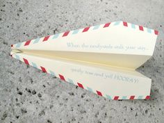 100 Personalized Paper Airplanes for a Unique Wedding Ceremony / Reception Exit Sendoff