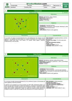 Sesión 021 (2014) Football Training Drills, Soccer Drills, Football Stuff, Professional Football, Coaching, Sport, Soccer Practice, Training, Workout Template