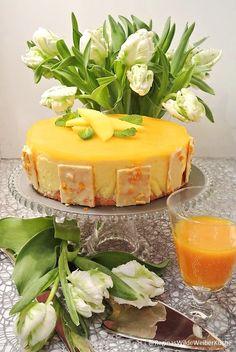 Mango-Joghurtmousse Torte mit Minze Wilde, Camembert Cheese, Panna Cotta, Mango, Pudding, Ethnic Recipes, Desserts, Food, Pies