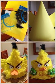 Easter hat - Angry birds Boys Easter Hat, Easter Bonnets For Boys, Easter Hat Parade, Easter Crafts, Holiday Crafts, Holiday Fun, Crafts For Kids, Easter Ideas, Crazy Hat Day