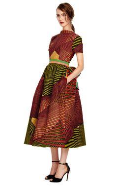 Peony Wax Cotton Full Skirt Party Dress by Stella Jean for Preorder on Moda Operandi