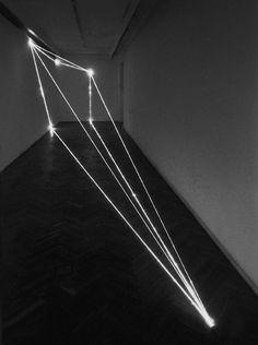 "Light Installation: ""The Division of Visual Unity"" 1999, optical fibers by Carlo Bernardini"