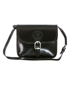 Love this Black Buckle-Accent Leather Crossbody Bag on #zulily! #zulilyfinds