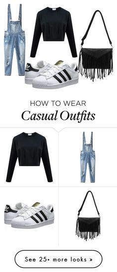 """Casual"" by basicallymxri on Polyvore featuring Relaxfeel and adidas Originals"