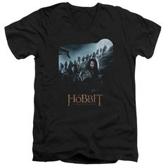 The Hobbit/A Journey Short Sleeve Adult T-Shirt V-Neck in