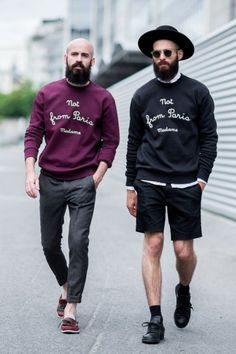 Nice styles, seen after Givenchy S/S15 PFW by Victor jones, Paris.